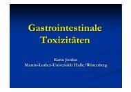 Gastrointestinale Toxizitäten