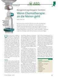 Wenn Chemotherapie an die Nieren geht