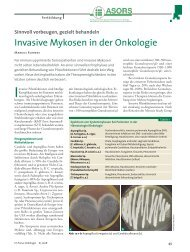 Invasive Mykosen in der Onkologie