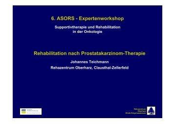 Rehabilitation nach Prostatakarzinom-Therapie