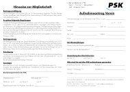 Mitgliedsantrag für den Verein - PSK