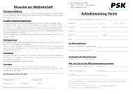 Anmeldungsformular Verein - Post Südstadt Karlsruhe e. V.