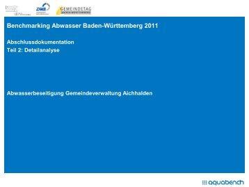 Benchmarking 2011 Abschlussbericht Teil II