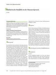 Pädiatrische Notfälle in der Hausarztpraxis