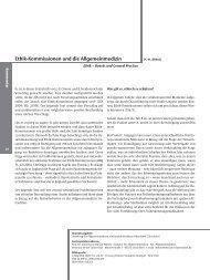 Ethik-Kommissionen und die Allgemeinmedizin - Zeitschrift für ...
