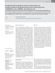 Vergleichende Evaluation zweier Instrumente zur kardiovaskul ä ren ...