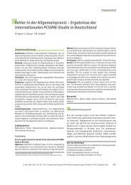 Fehler in der Allgemeinpraxis - Zeitschrift für Allgemeinmedizin