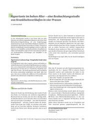 Hypertonie im hohen Alter – eine Beobachtungsstudie von ...