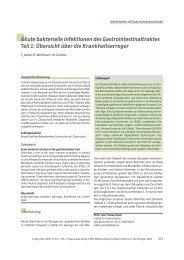 Akute bakterielle Infektionen des Gastrointestinaltraktes Teil 1 ...