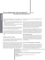 Die neue DEGAM-Leitlinie ¹¾ltere Sturzpatientenª