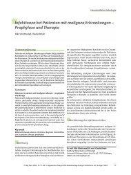 Infektionen bei Patienten mit malignen Erkrankungen – Prophylaxe ...