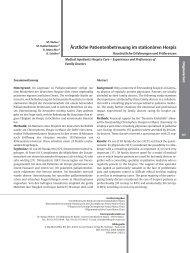 ¾rztliche Patientenbetreuung im stationären Hospiz - Zeitschrift für ...