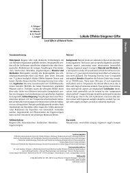 Lokale Effekte biogener Gifte