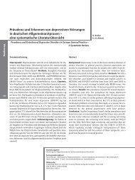 Prävalenz und Erkennen von depressiven Störungen in deutschen ...