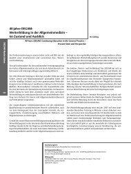 Weiterbildung in der Allgemeinmedizin – Ist-Zustand und Ausblick