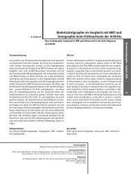 Skelettszintigraphie im Vergleich mit MRT und Sonographie beim ...