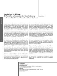 Hausärztliche Fortbildung – Ein Vorschlag zu Grundzügen der ...