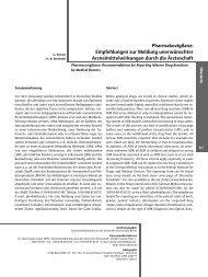 Pharmakovigilanz: Empfehlungen zur Meldung unerwünschter ...