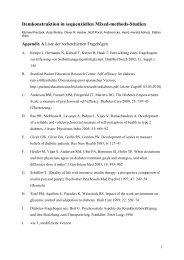 Appendix A: Liste der recherchierten Fragebögen