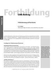 CME-Beitrag - Zeitschrift für Allgemeinmedizin