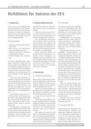 Richtlinien für Autoren der ZFA - Zeitschrift für Allgemeinmedizin