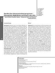 Überblick über Patientensimulationsprogramme - Zeitschrift für ...