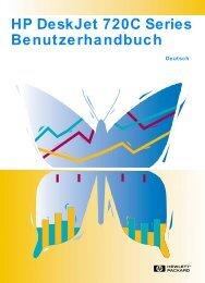 HP DeskJet 720C Series Benutzerhandbuch - Hewlett Packard