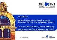 """""""neuen"""" Kriege der Gegenwart. - Philipps-Universität Marburg"""