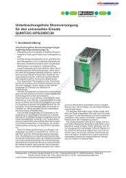 Unterbrechungsfreie Stromversorgung für den universellen Einsatz ...