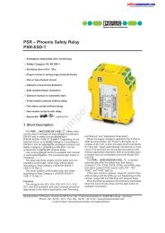 Phoenix Safety Relay PSR-ESD-T - Onlinecomponents.com