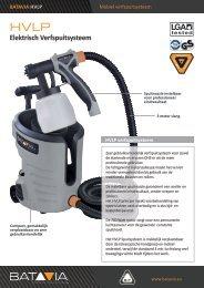Product Info HVLP - Elektrisch Verfspuitsysteem