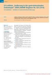 """S3-Leitlinie """"Sedierung in der gastrointestinalen Endoskopie ... - DGAI"""