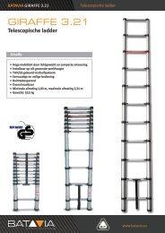 Product Info GIRAFFE 3.21m Telescopische Ladder