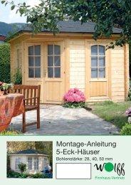Montage-Anleitung 5-Eck-Häuser - Mein Gartenshop24