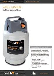 Product Info VOLUMIA - Mobiele Luchtdruktank