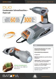 Product Info DUO Flash-Cell - 4,6 V Schroefmachine