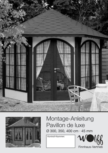 Montage-Anleitung Pavillon de luxe - onlineshop-baumarkt