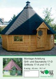 Montage-Anleitung Grill- und Saunakota 17-D Grillkota 17-A und 17-C