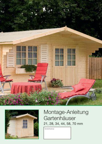 Montage-Anleitung Gartenhäuser - onlineshop-baumarkt