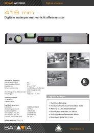 Product Info Digitale Waterpas - 416mm met verlicht Afleesvenster