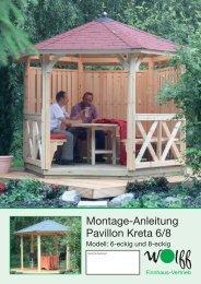 Montage-Anleitung Pavillon Kreta 6/8 - onlineshop-baumarkt