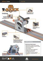 Product Info T-RAXX - Invalzaag 1400 watt