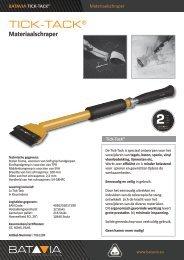 Produkt Info TICK-TACK® Materiaalschraper