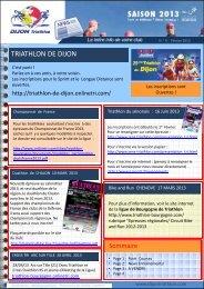 Newsletter n° 5 (février 2013) - OnlineTri.com