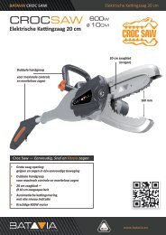 Product Info CROC SAW - elektrische kettingzaag