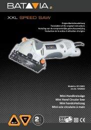 Handleiding XXL Speed Saw - Mini Handcirkelzaag