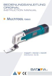 Handleiding Multitool - 10,8 V Li-Ionen