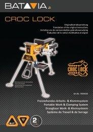 Handleiding CROC LOCK - draagbaar professioneel werk- en klemsysteem