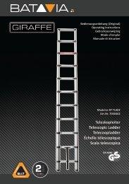 Handleiding GIRAFFE 3.21m Telescopische Ladder