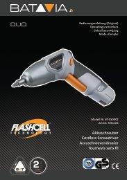 Handleiding DUO Flash-Cell - 4,6 V Schroefmachine